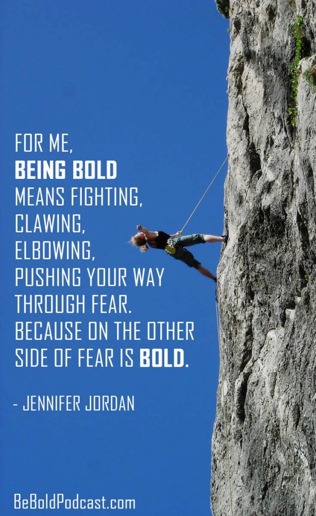 jennifer jordan Be Bold